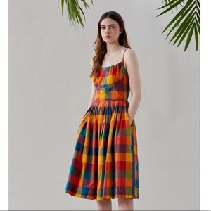 Emily and Fin Enid Rainbow Plaid Summer Dress